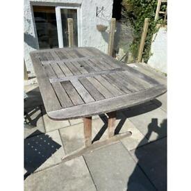 Timber garden table