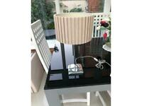 Table lamp and standard tall lamp