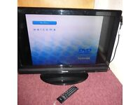 "Toshiba 32"" flatscreen television with freeview and remote-perfect condition"