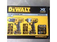 DeWalt drill driver & impact driver 10.8V NEW