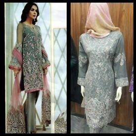 Pakistani designers Inspired Lawn Embroidered suits,Fully Stitched,Size S/M/L/(JZ01).EID 2018 Sale