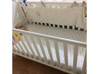 tutti bambini Three Bear cot bed With Mamas And Papas Mattress + 3 Fitted Shits