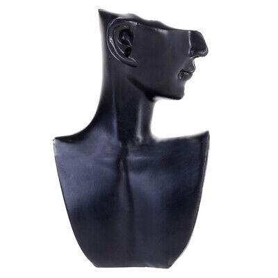 Black Resin Necklace Display Jewelry Bust Stand For Jewelry Accessories