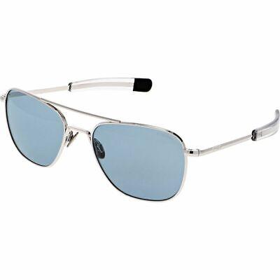 Randolph Aviator White Gold Blue Hydro 55mm Bayonet USA New Sunglasses (Blue Tinted Aviators)