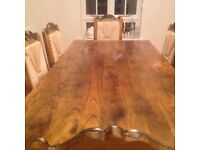 Solid Hardwood Dining Table and 6 Chairs £340