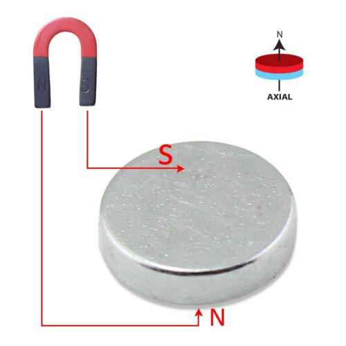 10/50/100Pcs Super Strong Block Round Disc Magnets Rare-Earth Neodymium Magnet