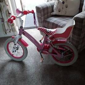 Girls hello kitty bike