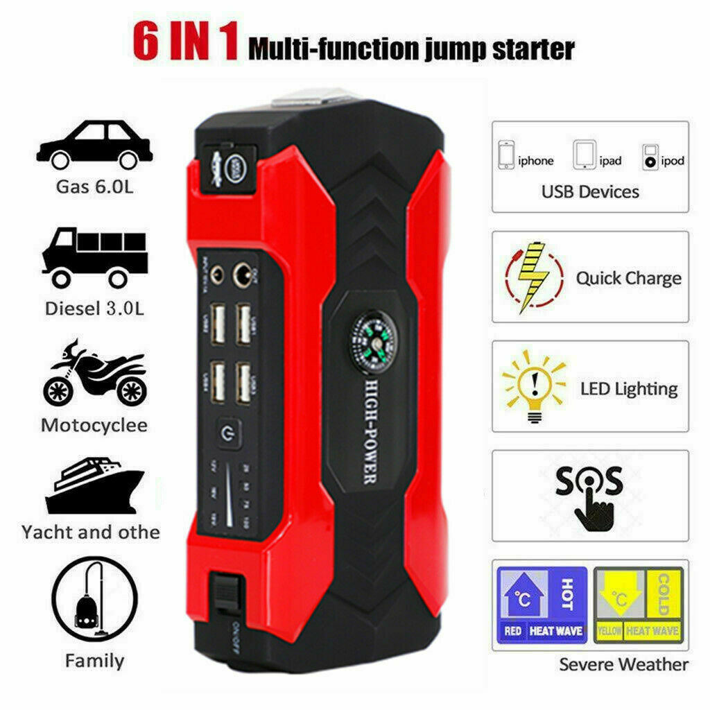 Owner Car Jump Starter, 20000mAh Portable Charger Power Bank with LED Flash Light