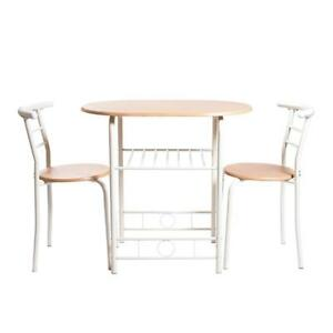 NEW Handi-Craft 3 Piece Compact Dining Set w/Table and Matching Chairs