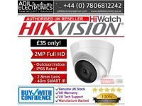 Hikvision Turbo-HD 2MP Dome Turret Camera 40m Smart IR (white)