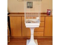Large Bird cage with stand and accessories