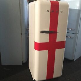 NEW RARE SMEG ST GEORGE'S CROSS FAB 28 FRIDGE FREEZER WTH Wrrant can deliv/view
