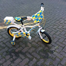 Child's first bike with removable stabilisers