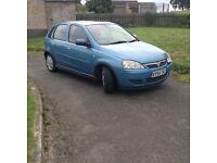 54 Vauxhall corsa 1.4 Aqua blue long mot services history low tax n insurance 5 doors £495