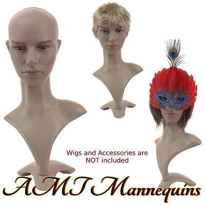 Male mannequin head display Halloween, Life Size plastic man's head-MD2