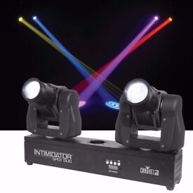 New CHAUVET DJ Intimidator Spot Duo - Compact Dual LED Moving Heads