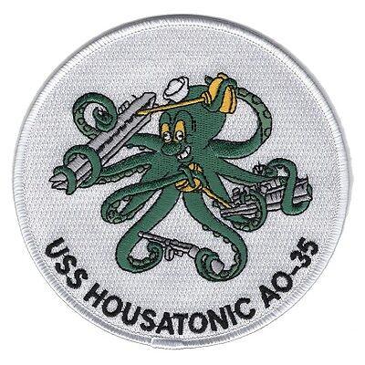 USS HOUSATONIC AO 35 Fleet Oiler Ship Military Patch - Disney Insignia