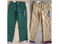 2x new with tags boys GAP trousers.