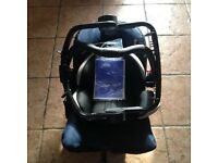 GRACO BABY CAR SEAT WITH EXTRAS.
