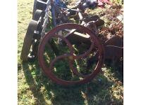Antique mangle wheel