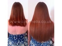 Russian Brazilian Indian virgin Remy micro rings hot fusion mobile hair extensions from £140