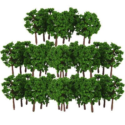 100pcs Model Trees N Scale Layout Garden Park Street Buildings Diorama 1:150 for sale  China