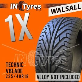 1x 225/40R18 Technic Runflat Tyre Fitting Available 225 40 18 Tyres x1 Walsall