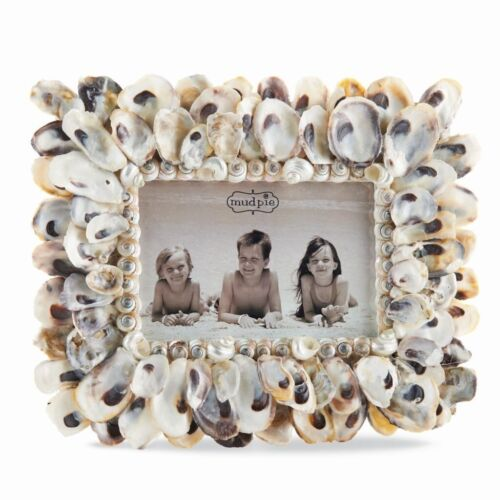 Mud Pie Oyster Shell Decorative Picture Frame for 4x6 Photos