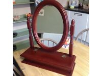Dressing table mirror with storage chunky solid wood