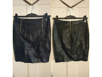NEW Faux leather skirt - Topshop - Size 10