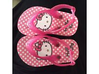 Brand new infant girls Hello Kitty flip flops size 5-6