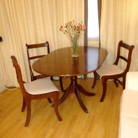 Mahogany Dropleaf Table & Chairs