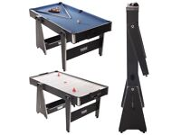 Tekscore 5 foot folding leg multi games table (pool and air hockey)