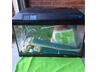 Aquarium suitable for fish or reptiles
