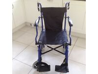 Lightweight Folding Wheelchair, Transport Chair, Folds Into a Bag, Excellent Condition