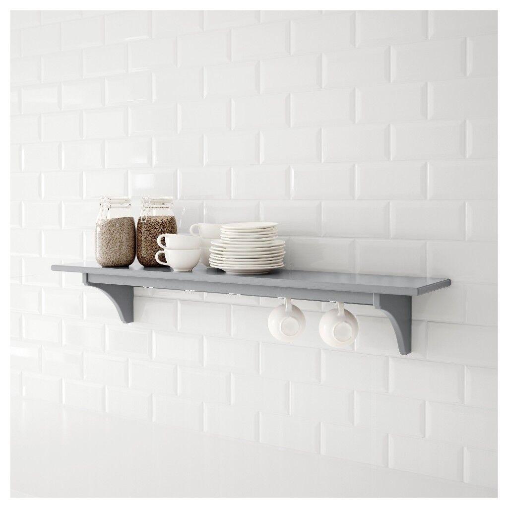 Ikea Stenstorp Kitchen Shelf Grey