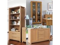 HEART OF HOUSE ELFORD LIVING ROOM FURNITURE SIDEBOARD BOOKCASE DISPLAY CABINET