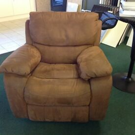 Harvey's faux leather 3 seater sofa & armchair all with manual recliners in perfect condition