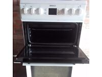 White beko cooker good clean condition can deliver local to leeds
