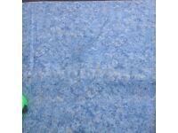 BLACKOUT BLUE CURTAINS WITH PELMET &TIE BACKS