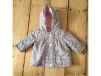 Two George baby girl coats 3-6 months