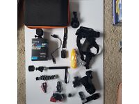 GoPro HERO4 Session Camcorder - Black WITH REMOTE and accessory pack Go-Pro