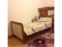 £220 - Mamas and Papas nursery furniture set : wordrobe + drawer + bed + mattress