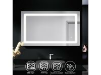 +SALE+ 1000x600mm LED Touch Button Demister Bathroom Mirror