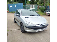 Peugeot 206 2.0 HDI LX 90 BHP Air conditioning. MOT till July 2018.