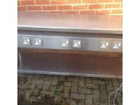 8ft Stainless Steel Bench With 6 sockets,Bargain ,Other Tables Are Available,buyer To Collect