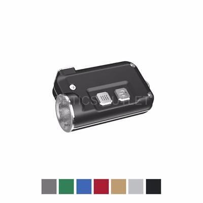 NITECORE TINI 380 Lumens Mini Metallic USB Rechargeable Keychain Light (Grey)