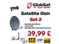 Satelitte dish + lnb TWIN