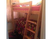Ikea Single High Sleeper Pine Wood Very Good Condition No Mattress