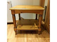 New Ducal Victoria square coffee / lamp table Real Solid Wood Occasional / Side table Antique pine